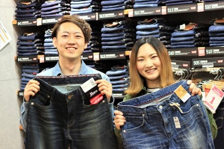 人気ブランド多数取扱いのジーンズカジュアルショップ『アメリカ屋』で、アパレル販売のお仕事を始めよう!